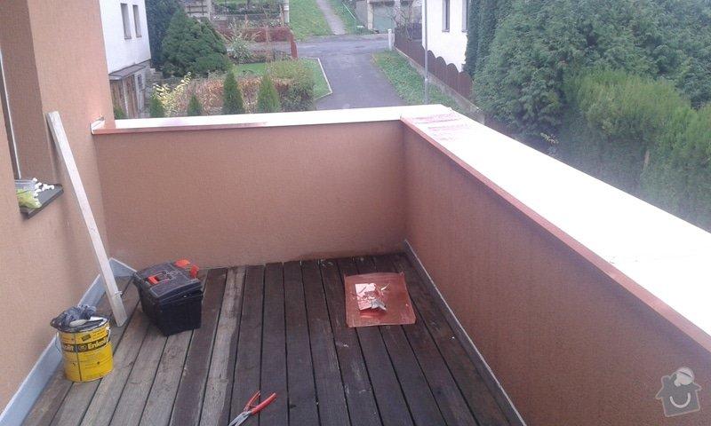 Oprava atiky - oplechování balkonové zdi: 20141121_094321