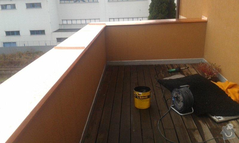 Oprava atiky - oplechování balkonové zdi: 20141121_094333