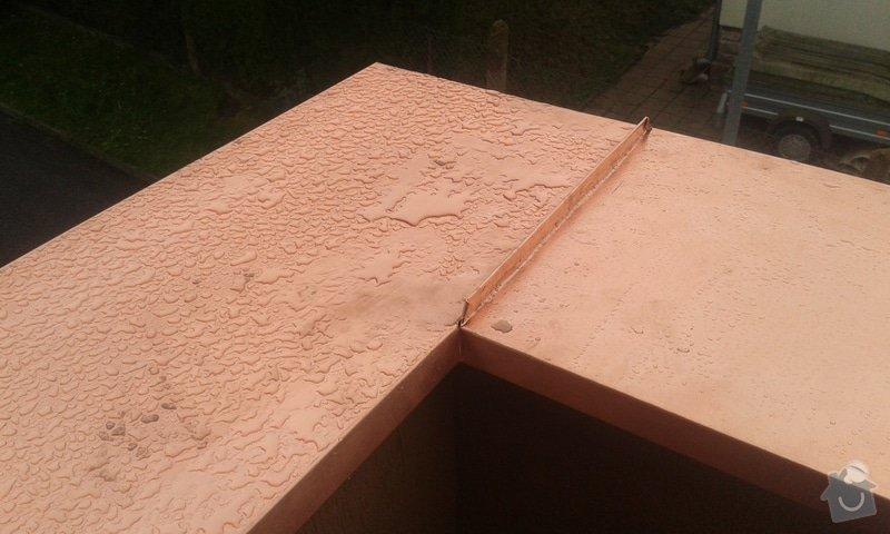 Oprava atiky - oplechování balkonové zdi: 20141121_094337