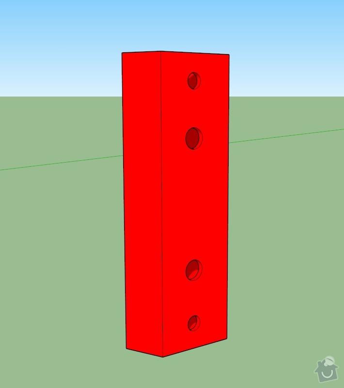 Kovové součástky simulátoru: 001