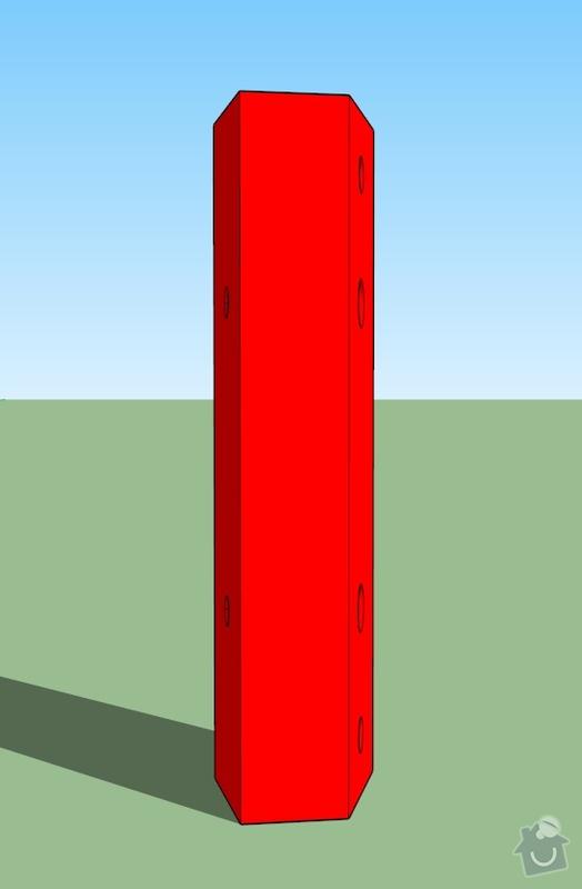 Kovové součástky simulátoru: 003
