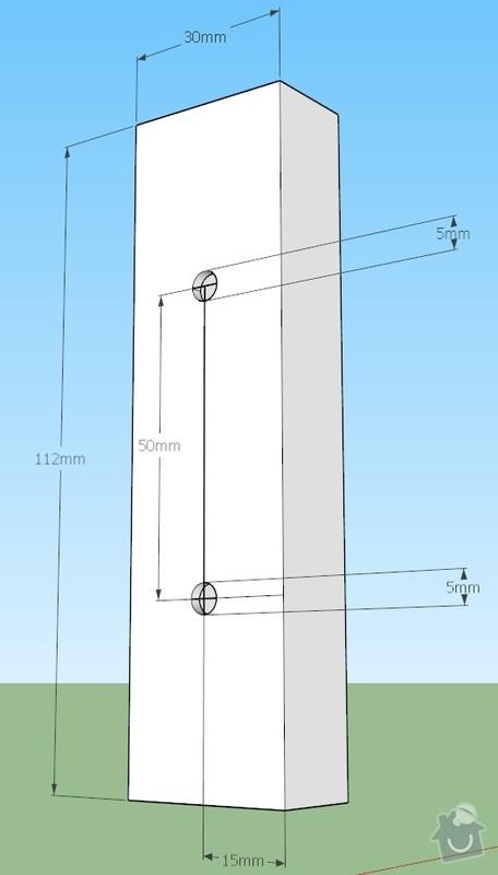 Kovové součástky simulátoru: rozmery002