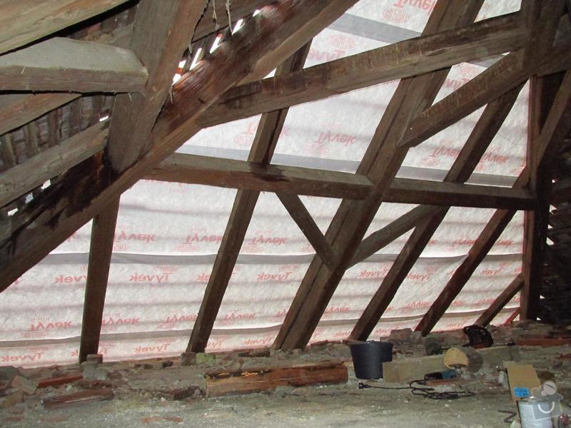 Nová střecha (materiál vlastní): IMGP2014-10-17_10-06-26