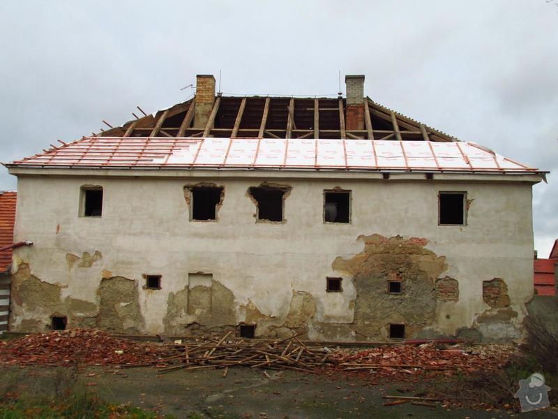 Nová střecha (materiál vlastní): IMGP2014-10-22_16-00-14