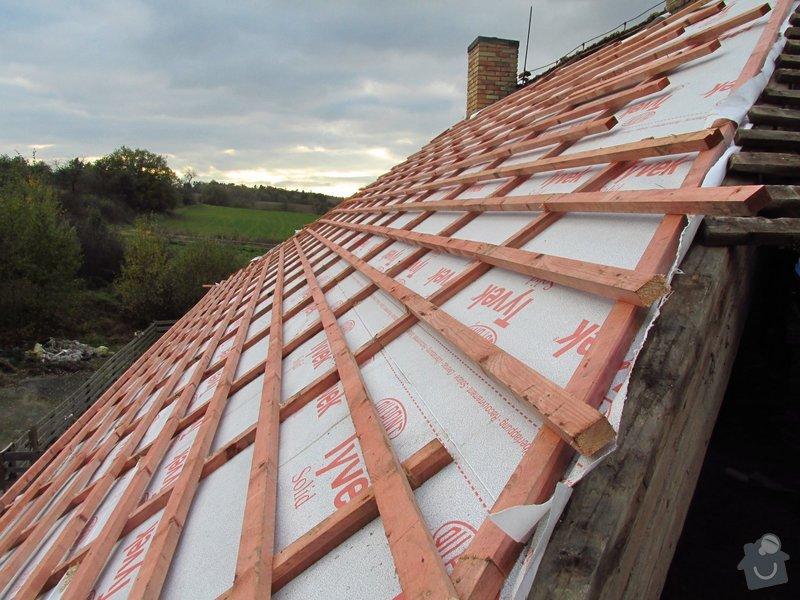 Nová střecha (materiál vlastní): IMGP2014-10-23_16-44-47