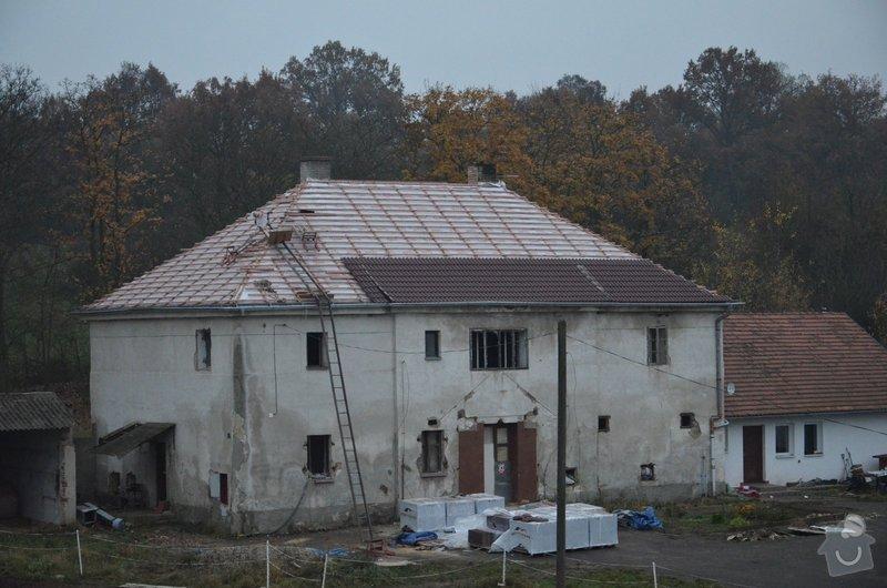 Nová střecha (materiál vlastní): IMGP2014-11-11_17-28-50