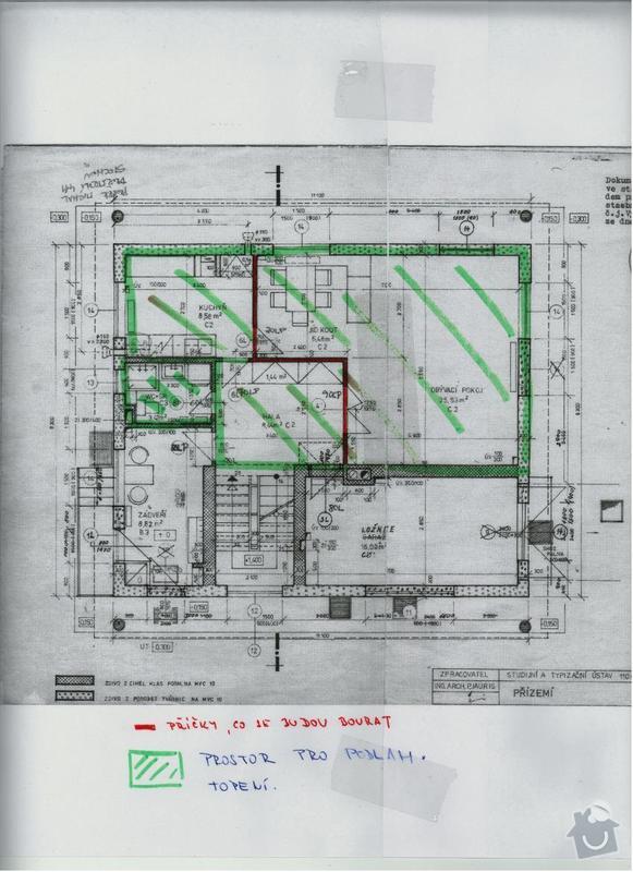Podlahové topení bez bourání podlahy.: dokumentace