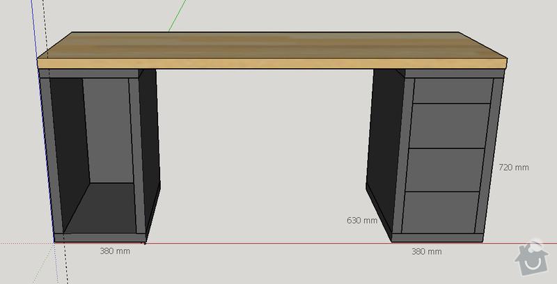 Skříňky pro stůl - lamino: stul