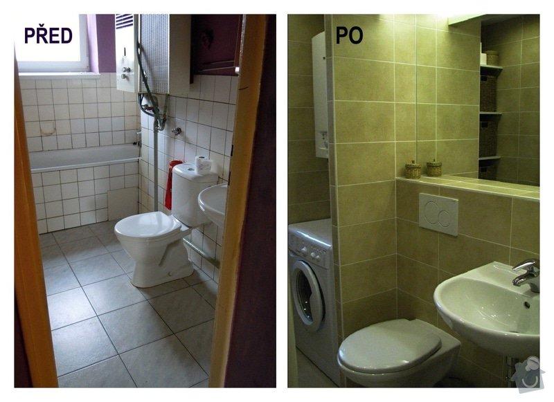 Rekonstrukce koupelny: pred_po
