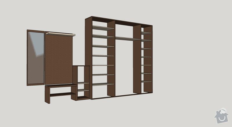 Vestavné skříně do chodby: Sestava_1_-_bez_dveri