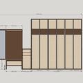 Vestavne skrine do chodby sestava 1   front
