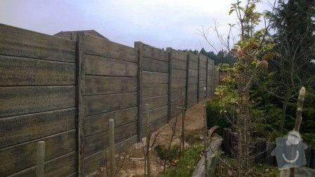 Brož beton - tvář dřeva: Plot_Tvar_dreva_Plzen
