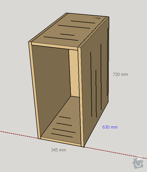 Stojící skříňka - spárovka buk: skrinka_1
