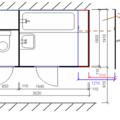 Rekonstrukce bytoveho jadra prodlouzeni 40 cm  vyznaceni zmen