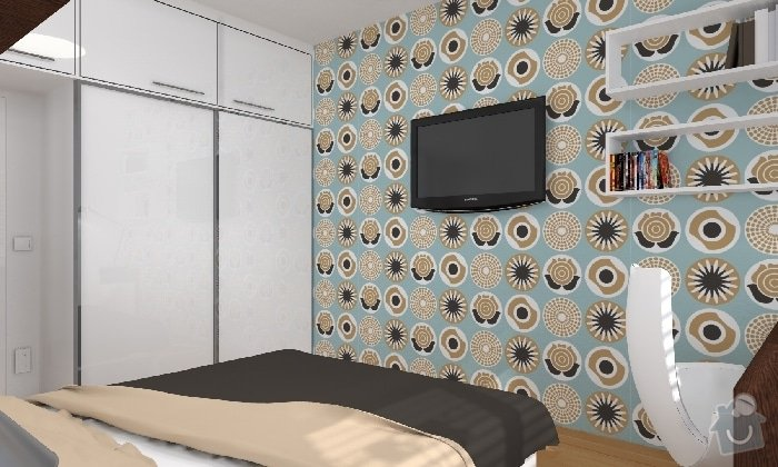 Návrh dětského pokojíčku a ložnice: loznice_01_KARASOVA
