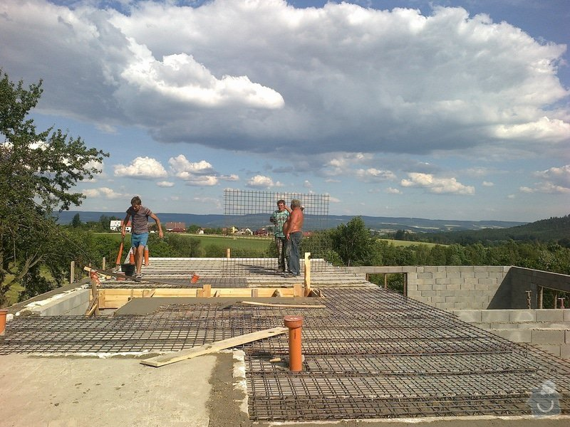 Výstavba rodinné rezidence: 2014-06-17-2086