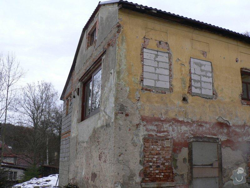 Fasáda, vyztužení rodinného domu a klempířské práce: P1150757