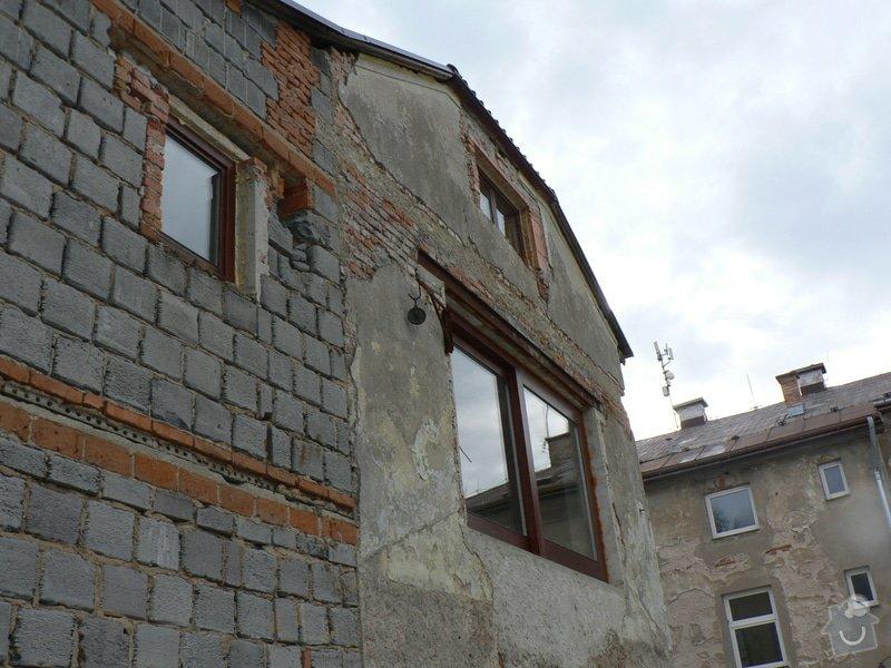 Fasáda, vyztužení rodinného domu a klempířské práce: P1150761