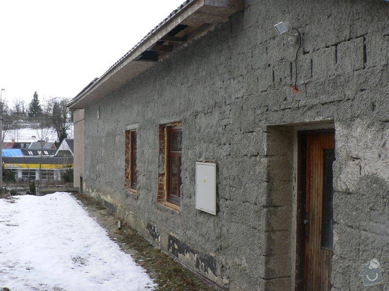 Fasáda, vyztužení rodinného domu a klempířské práce: P1150769