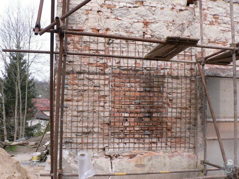 Fasáda, vyztužení rodinného domu a klempířské práce: P1160120