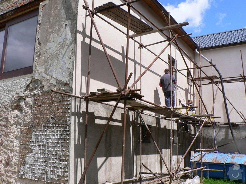 Fasáda, vyztužení rodinného domu a klempířské práce: P1160390