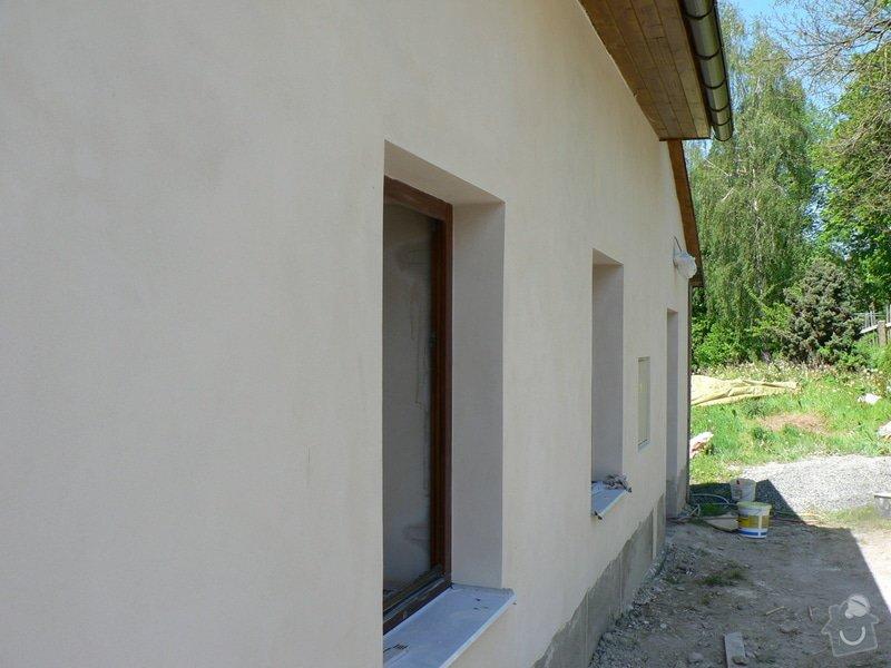Fasáda, vyztužení rodinného domu a klempířské práce: P1160413