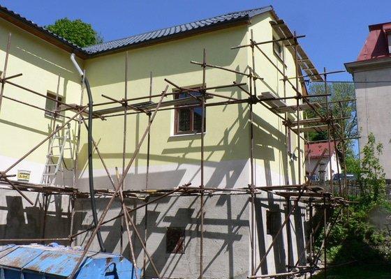 Fasáda, vyztužení rodinného domu a klempířské práce