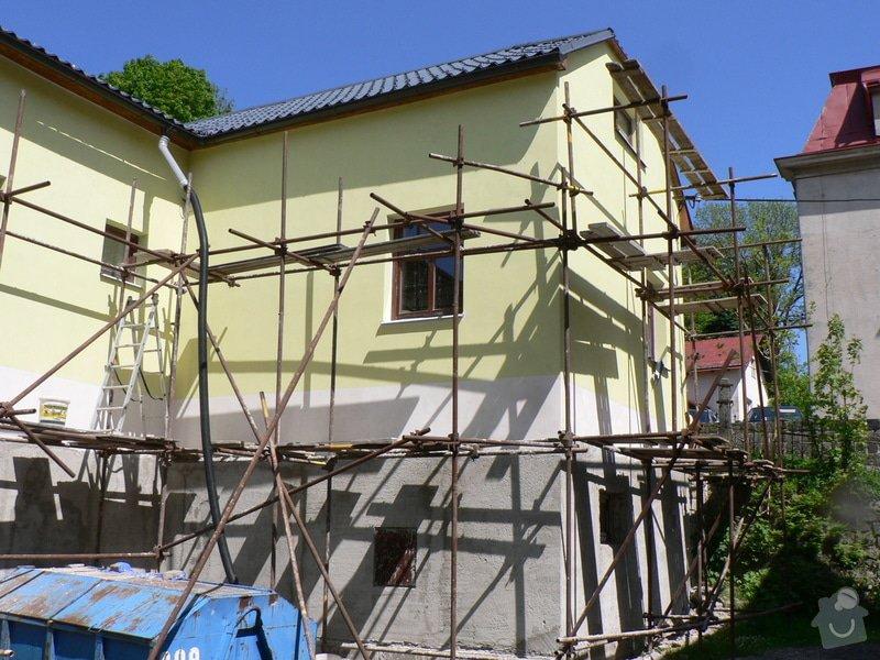Fasáda, vyztužení rodinného domu a klempířské práce: P1160414