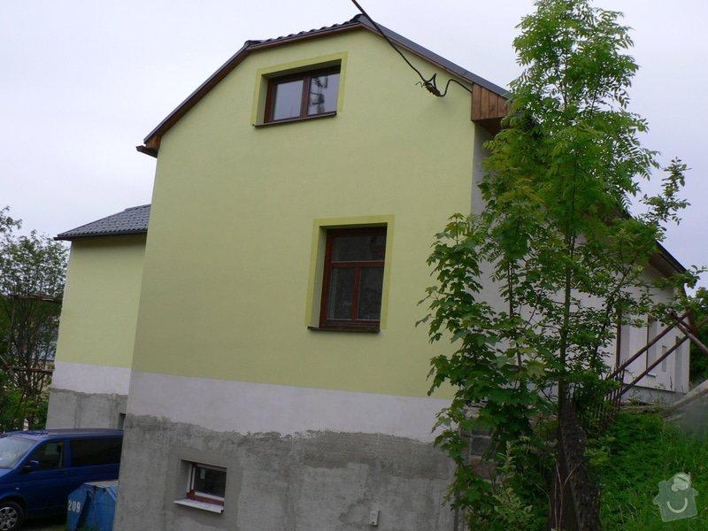 Fasáda, vyztužení rodinného domu a klempířské práce: P1160475