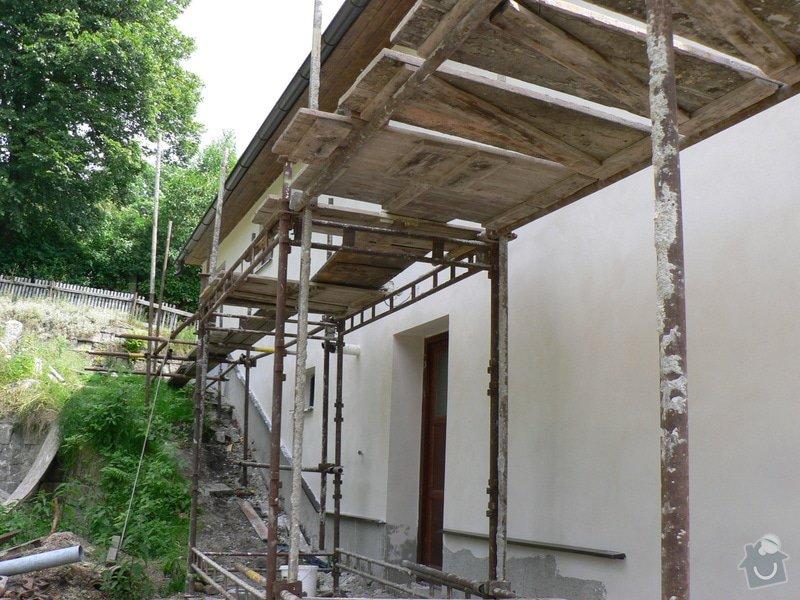 Fasáda, vyztužení rodinného domu a klempířské práce: P1160508