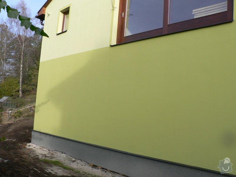 Fasáda, vyztužení rodinného domu a klempířské práce: P1180175