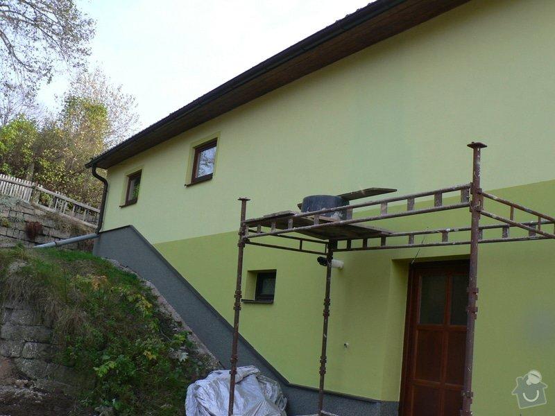 Fasáda, vyztužení rodinného domu a klempířské práce: P1180172