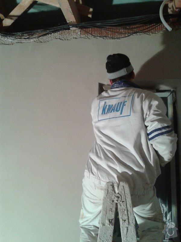Provedení strojní sádrové omítky hlazené: 20141203_162045