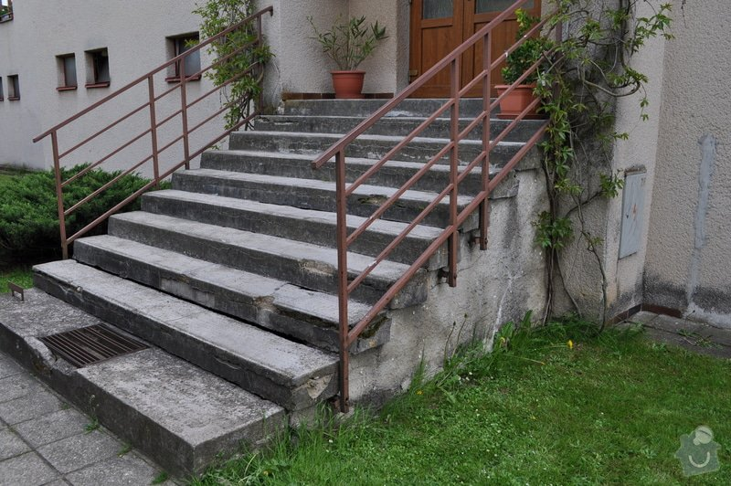 Rekonstrukce vstupních schodů a podest: Schody_Hor.Cer._pred_002
