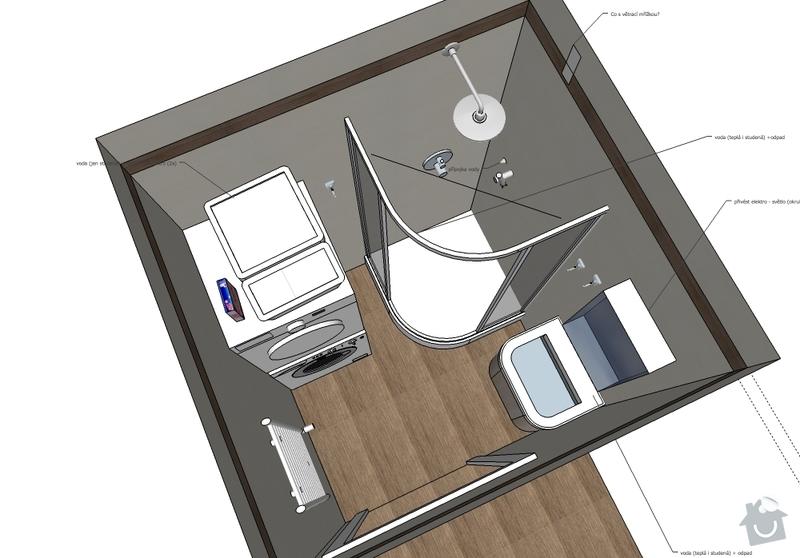 Rekonstrukce koupelny 2,5 m2: koupelna1