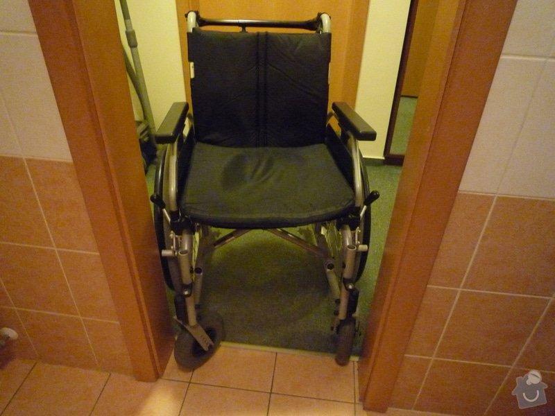 Stavební práce na klíč - rozšíření dveří do koupelny: P1000487
