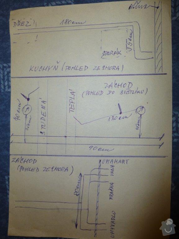 Výměna kovového ležatého rozvodu vody v panelovém bytě. : P1060150