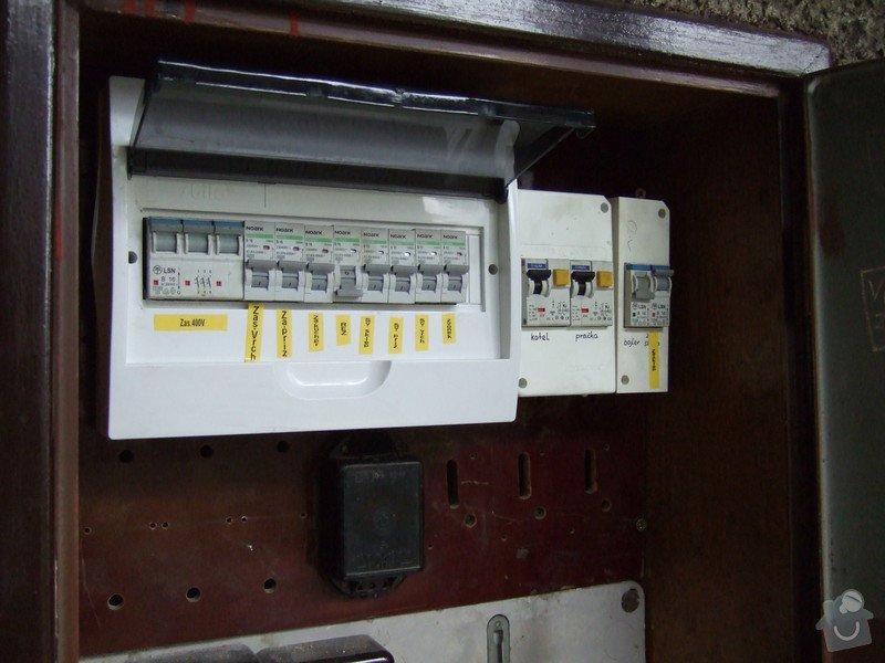 Revize elektroinstalace v rodinném domě: DSCF0036