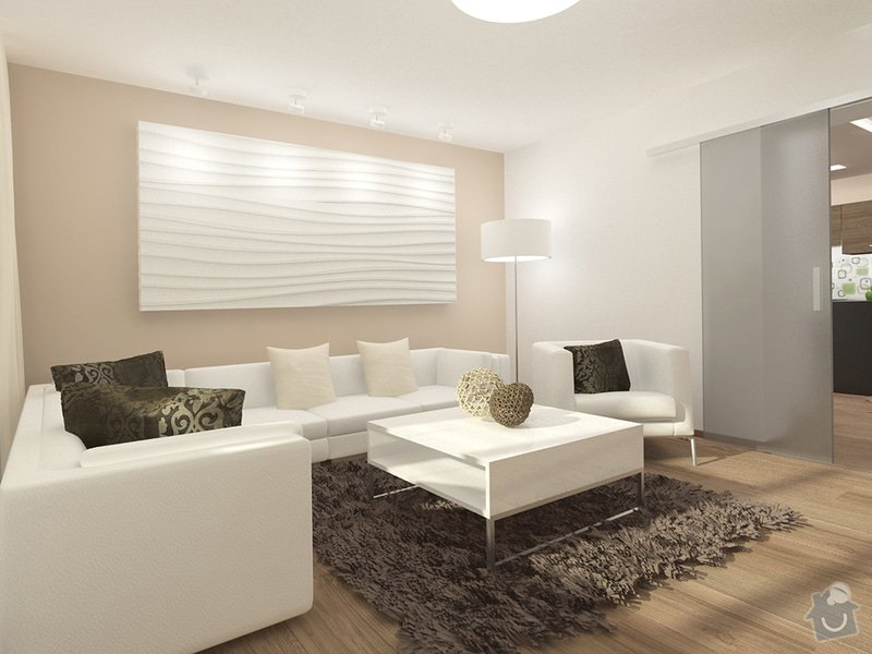 Návrh rekonstrukce interiéru RD: 1_-_moderni_obyvaci_pokoj_-_sezeni_-_Karasova