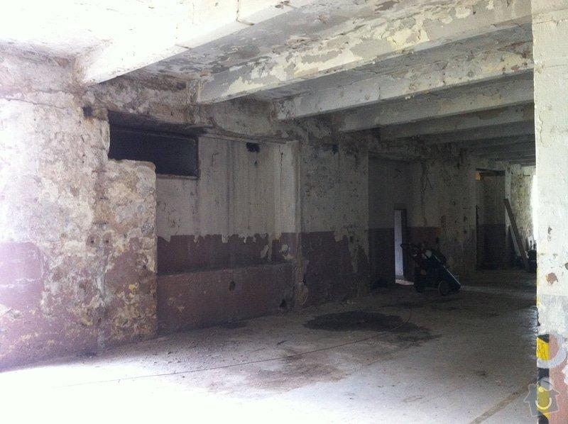 Oprava skladovacího prostor 400m2 plocha: 04