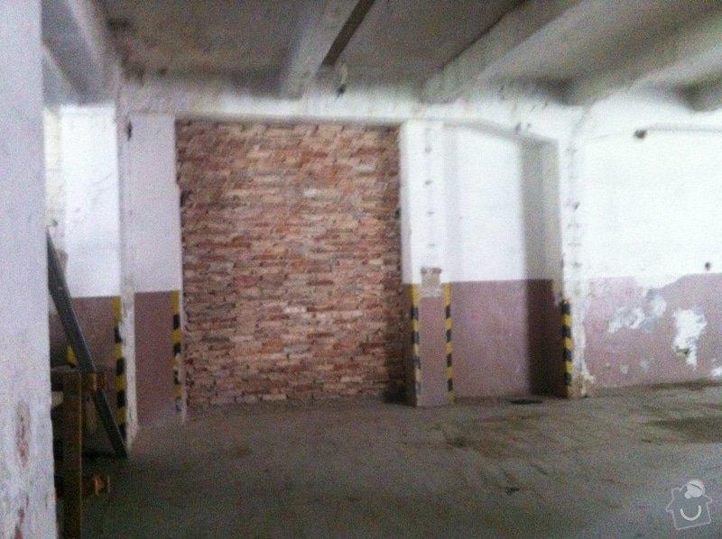 Oprava skladovacího prostor 400m2 plocha: 05