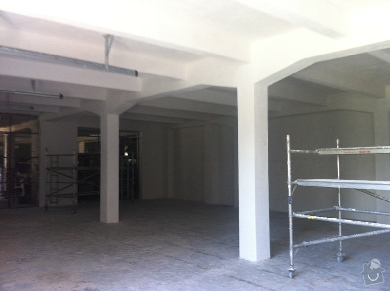 Oprava skladovacího prostor 400m2 plocha: 17