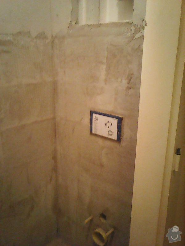 Pokládka obkladů (cca 26m2) a dlažby (7m2) v koupelně, WC a v předsíni: Photo0094