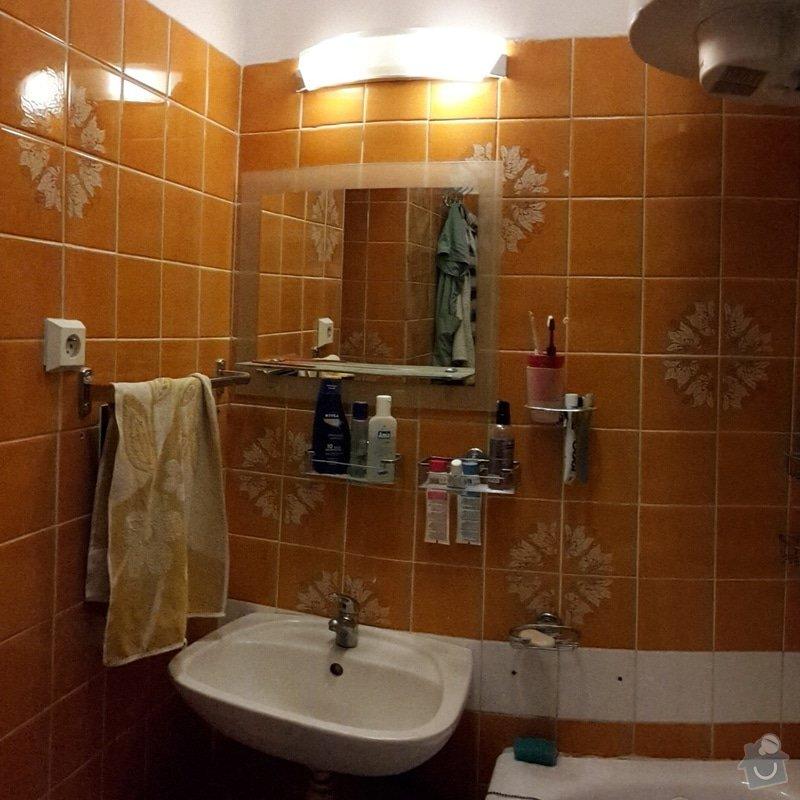 Zednické práce v bytě 2+1, 65 m2: koupelna