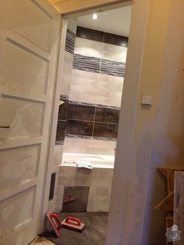 Pokládka obkladů (cca 26m2) a dlažby (7m2) v koupelně, WC a v předsíni: IMG_3747