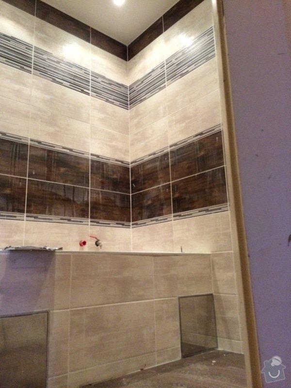 Pokládka obkladů (cca 26m2) a dlažby (7m2) v koupelně, WC a v předsíni: IMG_3748
