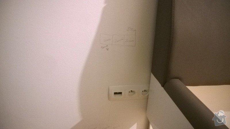 Elektrikarske práce+malování: vytvoreni_3_novych_zasuvek_premisteni_stavajich_dolu