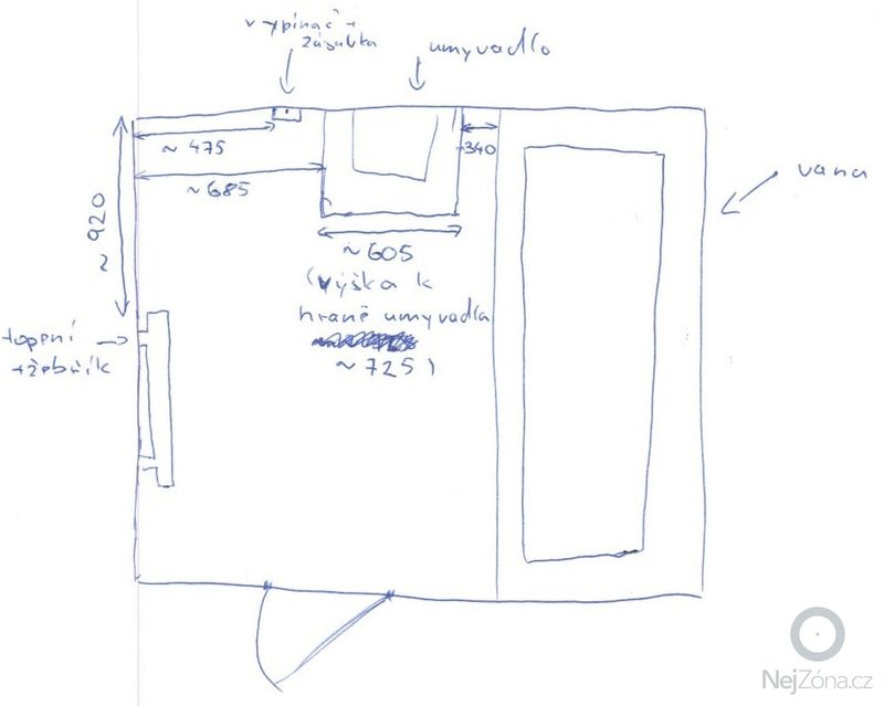 Koupelnový nábytek: planek