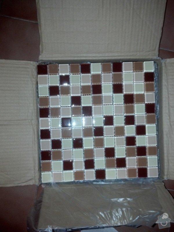 Montáž obkladů (skleněná mozaika): Obklady
