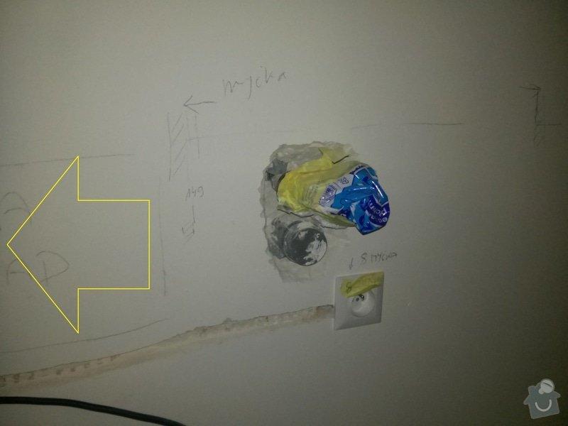 Instalatér - 30 cm posun roháčků a odpadu v kuchyni: posun_odpadu_a_vody